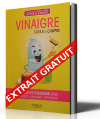"""Extrait Gratuit de mon livre """"Vinaigre un Concentré d'astuces pour votre maison, votre santé, votre beauté"""
